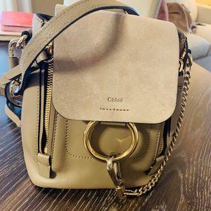 Chlloe Faye Mini Calf Leather/Suede Backpack